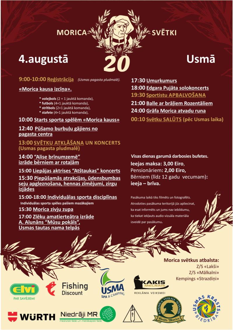 Count Morics celebration in Usma